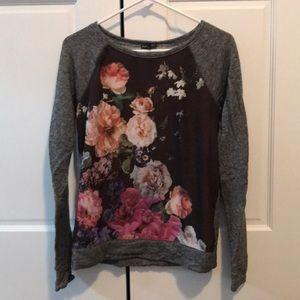 Express Floral Printed Sweatshirt